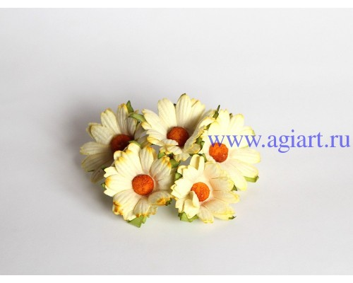 Ромашки св.желтые махровые 4 см, 5 шт