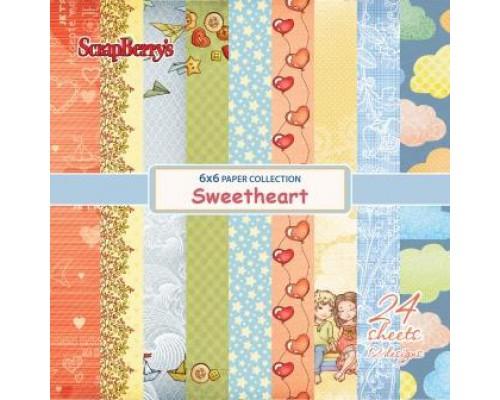 "Набор бумаги 15*15 см ""sweet heart"""