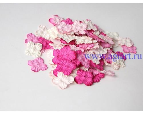 Гортензии розовое ассорти 2,5 см 10 шт