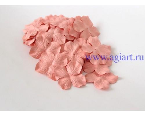 Гортензии розово-персиковые темные 5 см 10 шт