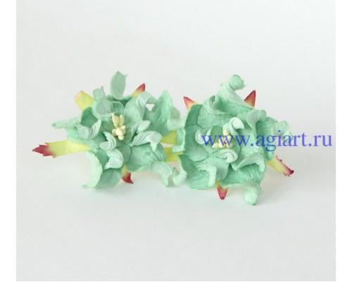 """Гардения многослойная """"Мятно-зеленая"""",  4,5 см., 1 шт."""