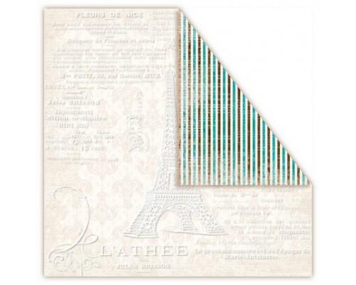 """Бумага """"Paris"""" двухсторонняя с резист эффектом"""