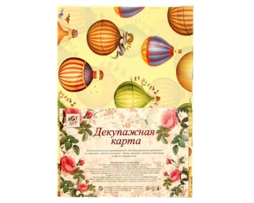 """Декупажная карта А4 """"Воздушный шар"""""""