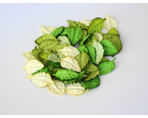 Листья ассорти зеленые  4 см, 10шт.