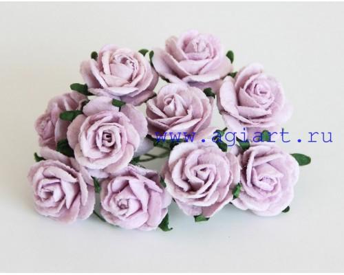 Розы сиреневые 2 см, 5 шт.