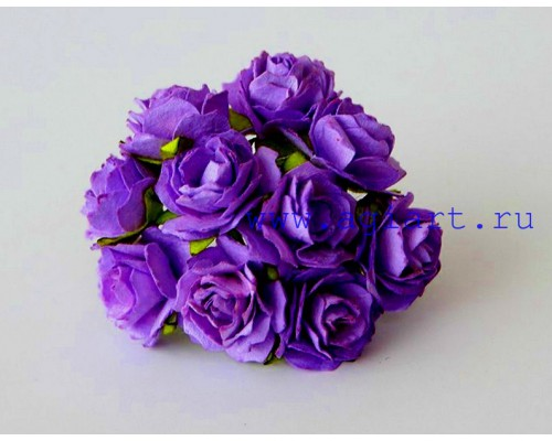 Кудрявые розы 2 см - Сиреневые, 5 шт