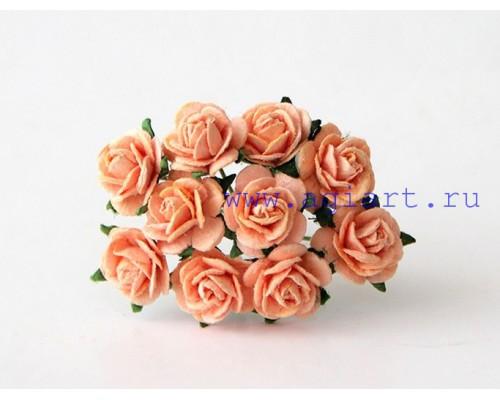 """розы """"Персиковый"""" 1 см, 10 шт."""