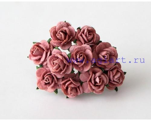"""розы """"Каштановый"""" 1 см, 10 шт."""