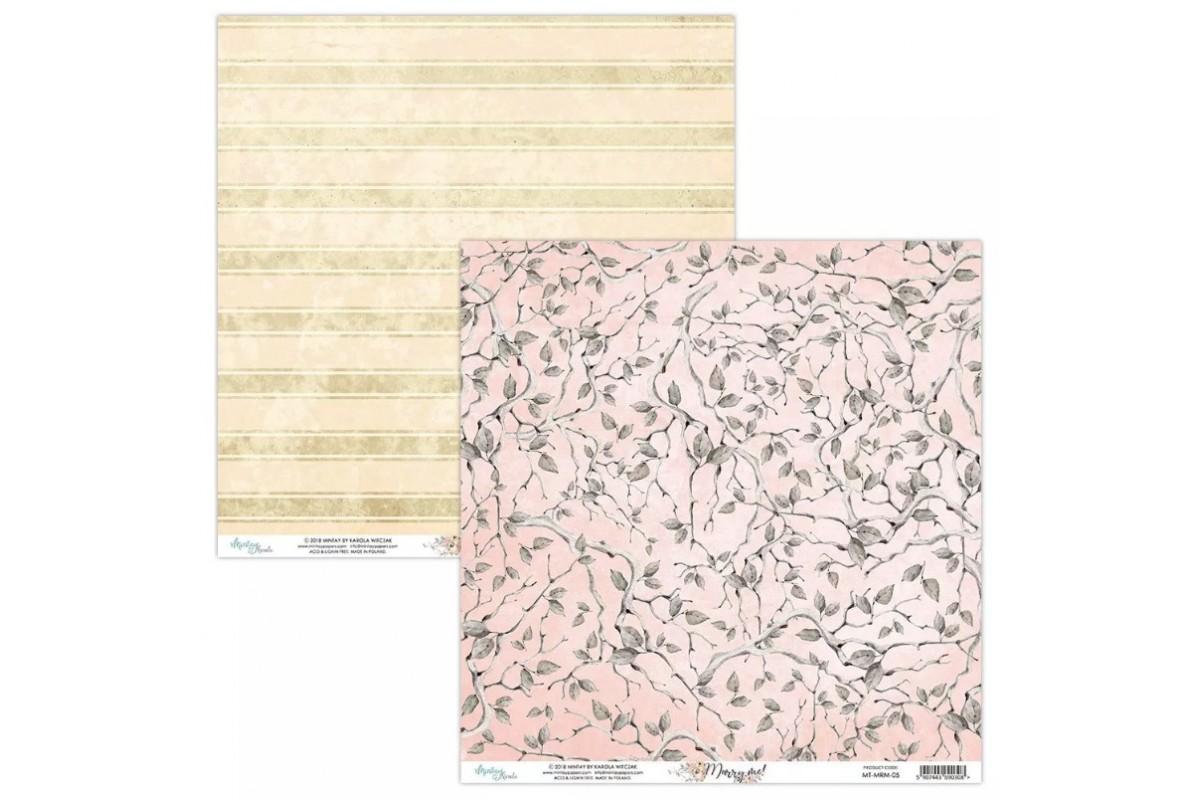 """Бумага двусторонняя коллекция """"Marry Me!"""" 30.5 х 30.5 см., Mintay paper"""