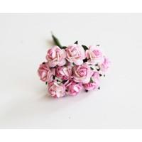 Розы розово-белые  №2, 1 см 10 шт.