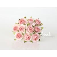 Кудрявые розы 2 см - Коралловые двухтоновые, 5 шт