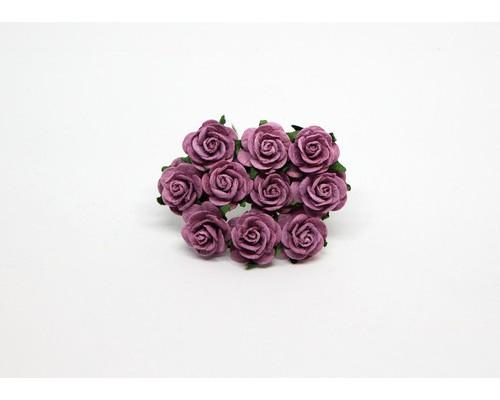 Розы сиреневые теплые 2 см, 5 шт.