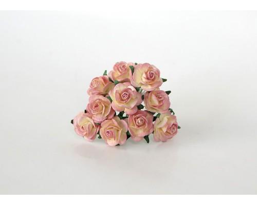Розы Молочный+ягодный 2 см, 5 шт.