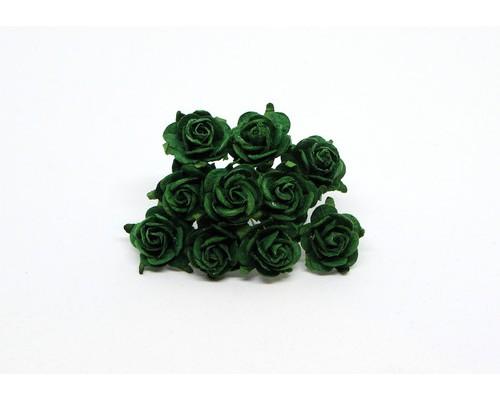 Розы изумрудные 2 см, 5 шт.