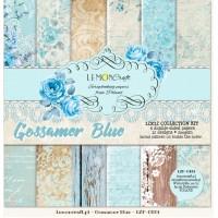 """Набор бумаги """"Gossamer blue"""" 6 листов 30*30 см LemonCraft"""