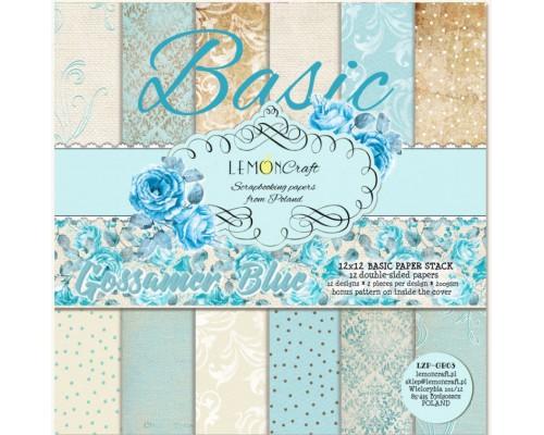"""Набор бумаги """"BASIC Gossamer blue"""" 30*30 см., 6 листов, LemonCraft"""