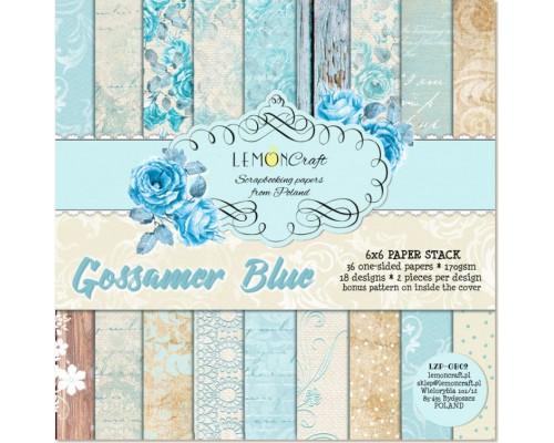 """Набор бумаги """"Gossamer blue"""" 15*15 см 1/2 набора 18 листов LemonCraft"""