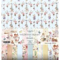 """Набор бумаги """"My Hunny Bunny"""" 11 листов 30,5*30,5см., Summer Studio"""