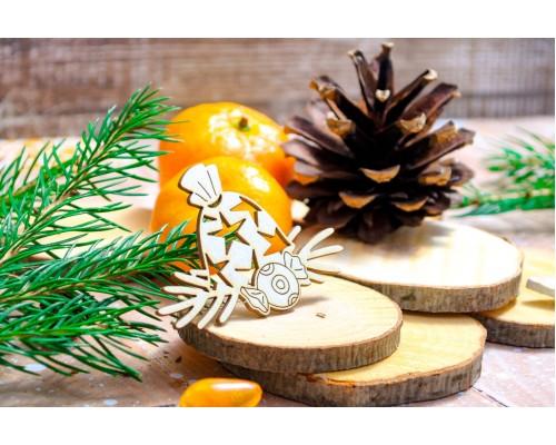 "Чипборд ""Мешок с подарками и конфетка"", Wood Home"