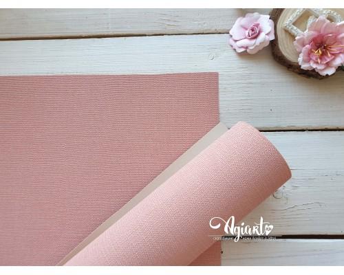Переплетный материал с тканевой текстурой 35*50 см, св. розовый, Нидерланды