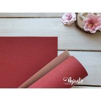Переплетный материал с тканевой текстурой 35*70 см, красный, Нидерланды
