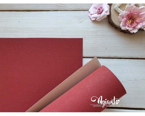 Переплетный материал с тканевой текстурой 35*50 см, красный, Нидерланды