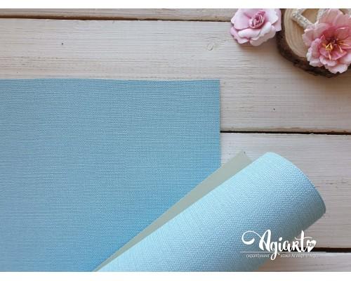 Переплетный материал с тканевой текстурой 35*50 см, Голубой, Нидерланды