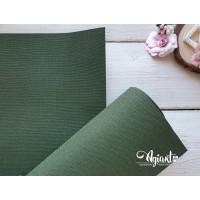 Переплетный материал с тканевой текстурой 35*70 см, зеленый, Нидерланды