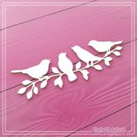 "Чипборд ""Птички на ветке"", СкрапМагия"