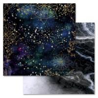"""Бумага двусторонняя """"Тайны вселенной. Звездный путь"""", ScrapMania"""