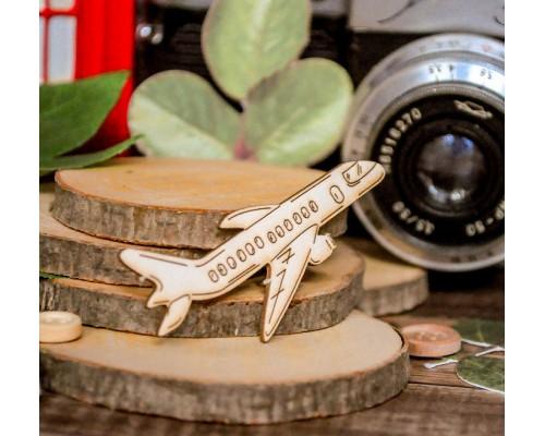 """Чипборд """"Самолет"""", Wood Home"""