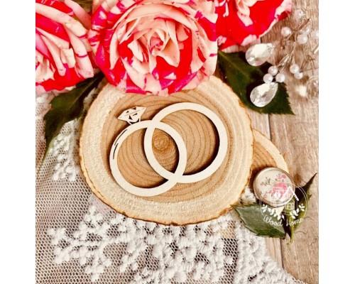 """Чипборд """"Обручальные кольца"""", Wood Home"""