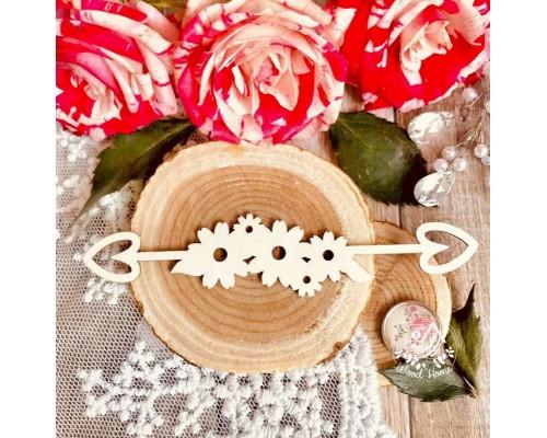 "Чипборд ""Cтрела цветы"", Wood Home"