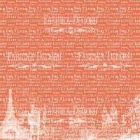 """Лист двусторонней бумаги для скрапбукинга """"European holidays"""" #16-01 Фабрика Декору"""