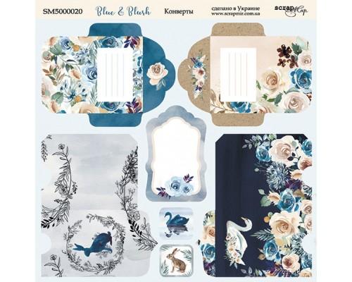 """Лист с конвертами коллекция """"Blue & Blush"""" 20*20 см., ScrapМир"""