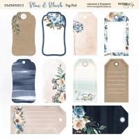 "Лист с тегами коллекция ""Blue & Blush"", Tag-Pad 20*20 см., ScrapМир"