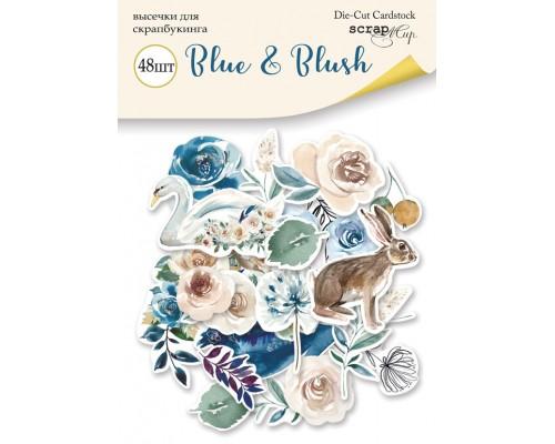 "Высечки бумажные ""Blue & Blush"" 48шт., Scrapmir"