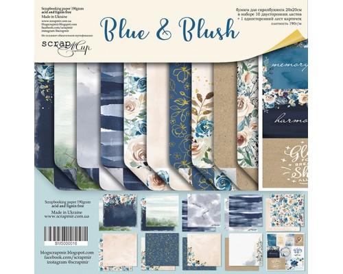 """Набор бумаги 20*20см """"Blue & Blush"""", 10 листов, ScrapМир"""
