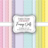 "Набор скрапбумаги ""Funny Dots"", 30,5 Х 30,5 см, Фабрика Декору"