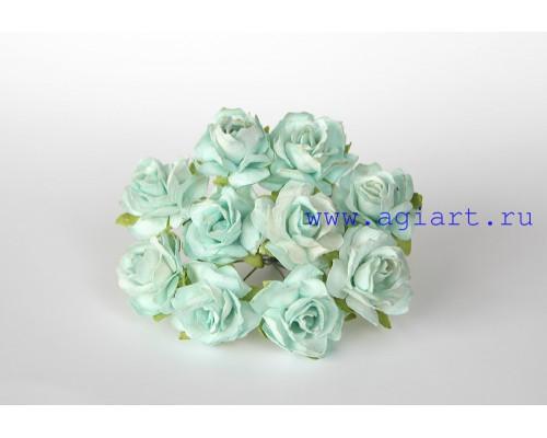 Кудрявые розы 3 см -Мятные , 5 шт