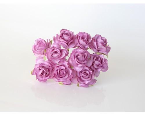 Кудрявые розы 3 см - Сиреневые, 5 шт