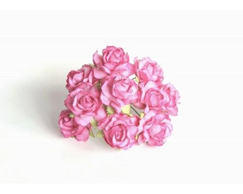 Кудрявые розы 3см. - Розовые, 5 шт