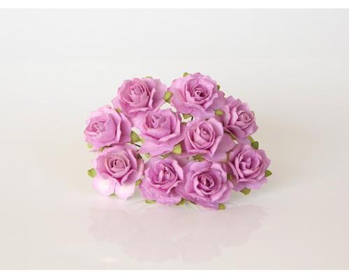 Кудрявые розы 2 см - Св. Сиреневые, 5 шт