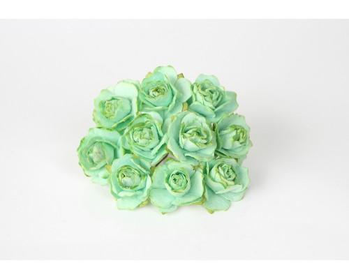 Кудрявые розы 2 см - Светло-Зеленые, 5 шт