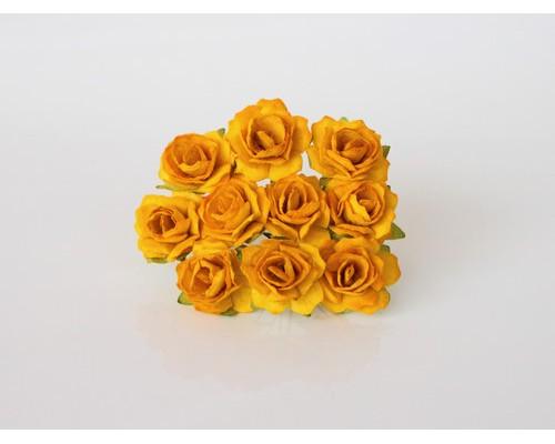 Кудрявые розы 2 см - Желтые , 5 шт