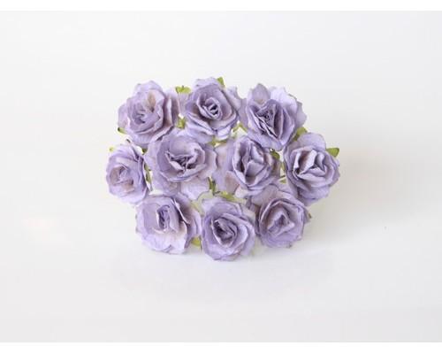 Кудрявые розы 2 см - Св.Лиловые, 5 шт