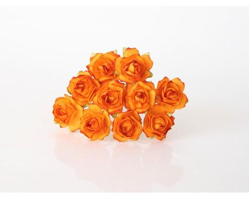 Кудрявые розы 2 см - Оранжевые, 5 шт