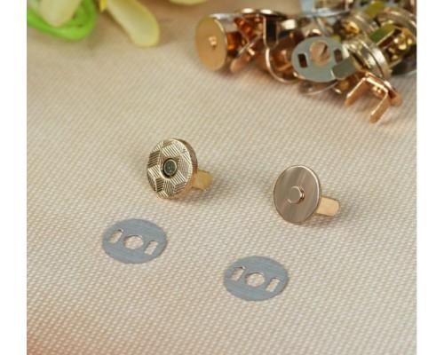 """Магнитная застежка (кнопки) """"Золото"""", d10 мм., 1 набор"""