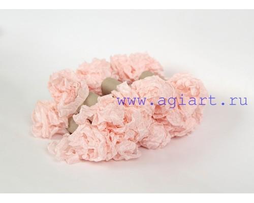 "Шебби лента - ""розовый лед"", 2,5 метра"