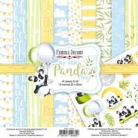 "Набор скрапбумаги ""My Little Panda Boy"", 20 Х 20 см, Фабрика Декору"